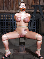 Hardcore bondage in isolated farm