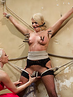 Prostitute is roped and used by rich lesbian woman