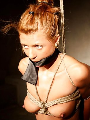 Romanian girl roped and cleave-gagged
