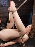Brutal torment in tight and grueling bondage