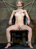 Two sluts chair-tied and tortured