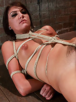 Tightly roped naked, teased and fucked by the couple